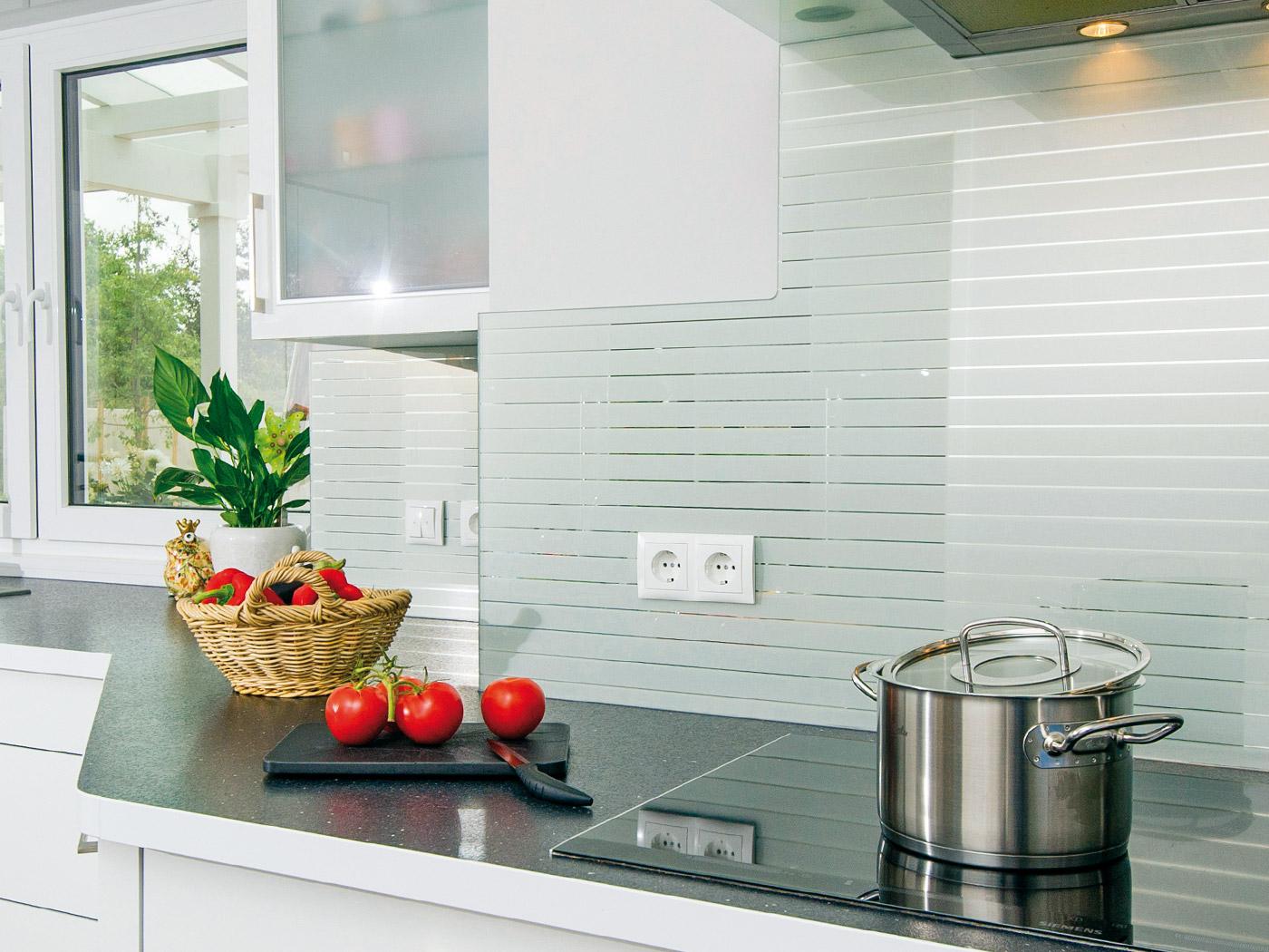Glas Küchenspiegel aus kratzfestem Echtglas